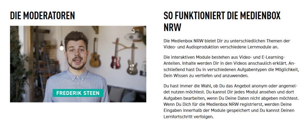 Screenshot www.medienbox-nrw.de